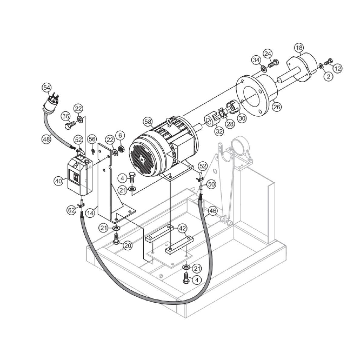 MultiQuip Whiteman STX6H Hydrostatic Ride-on Trowel Parts