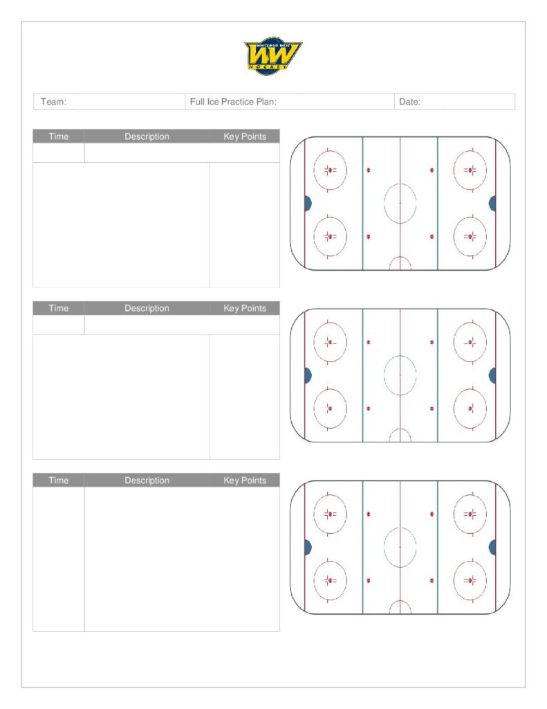 Coach's Manual and Practice Plan Templates