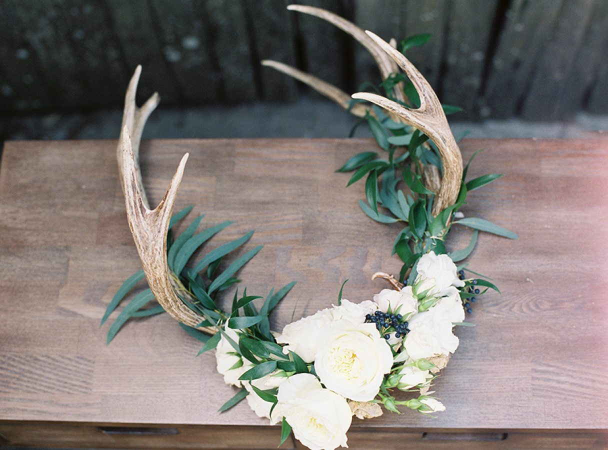 Floral Antlers, Antlers With Flowers