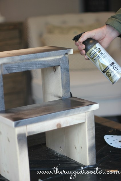 Build a Stool, Farmhouse Step Stool, Distressed White