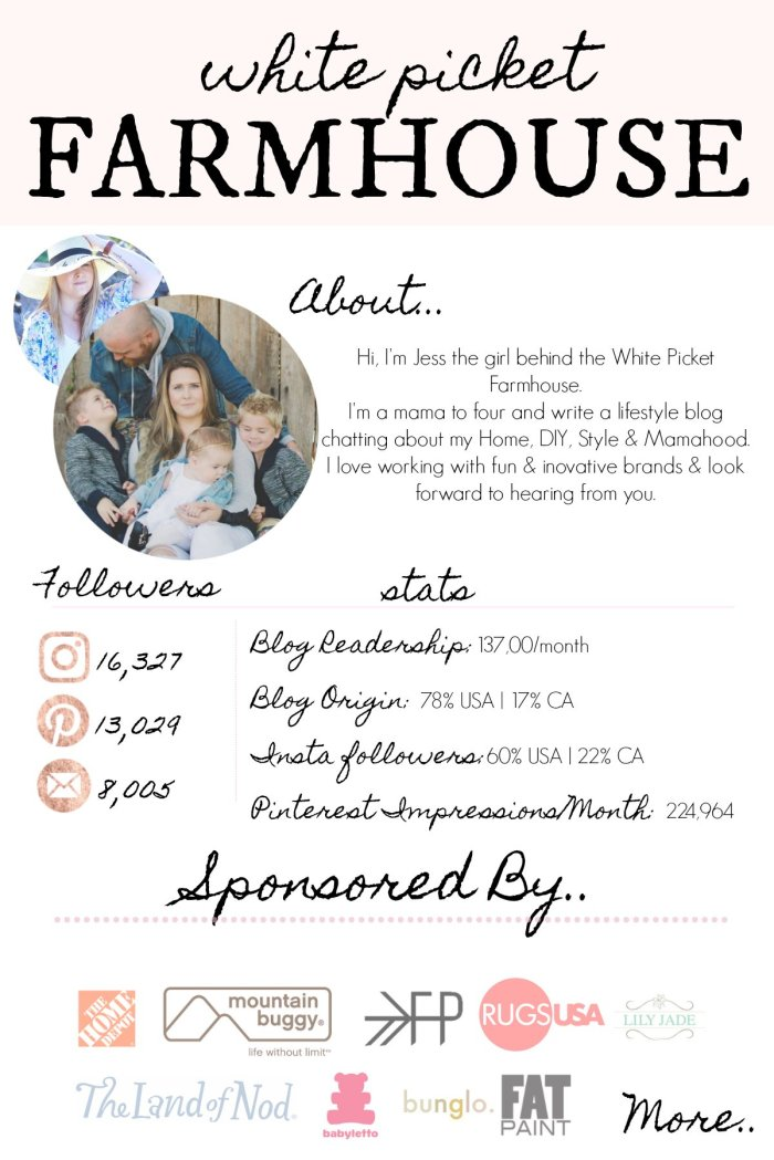Collaborate With Jess From The White Picket Farmhouse. Lifestyle, DIY, Home Decor, Style and Mamahood Blog