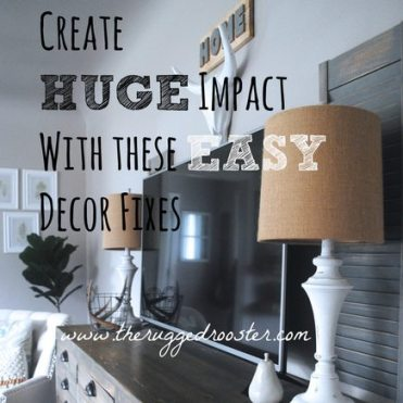 Create Huge Impact With These Easy Decor Fixes, Shabby Chic Lamps, Printers Cabinet