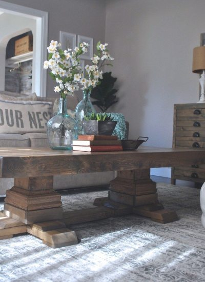 Build An Easy Pedestal Coffee Table