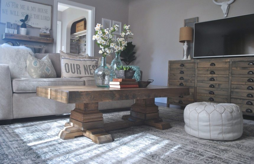 Shanty2chic, Shanty2Chic Coffee Table. Build a Coffee Table, Pedestal Coffee Table, DIY Coffee Table, Ana White Coffee Table