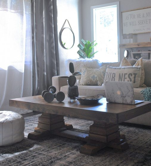 Build An Easy Pedestal Coffee Table Step By Step Plans