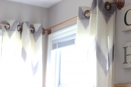 Easy DIY Curtain Rods Make West Elm Copper