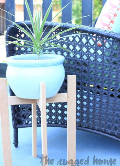 West Elm Inspired Plant Stand