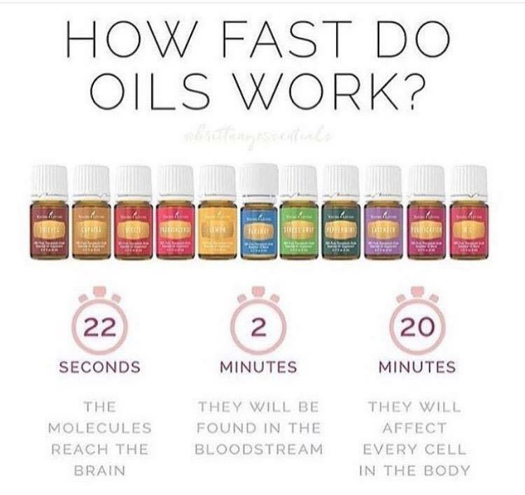 How Fast Do Oils Work? Essential Oils Go into Your bloodstream Within 2 minutes! Crazy guys... kick the pills!