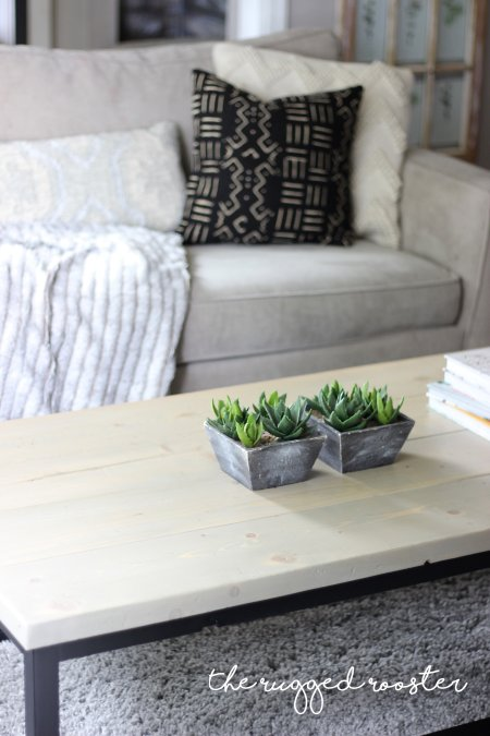 Build A Faux Metal Coffee Table In A Few Hours, Save hundreds of dollars and learn this easy DIY method, Little tools needed for this modern coffee table