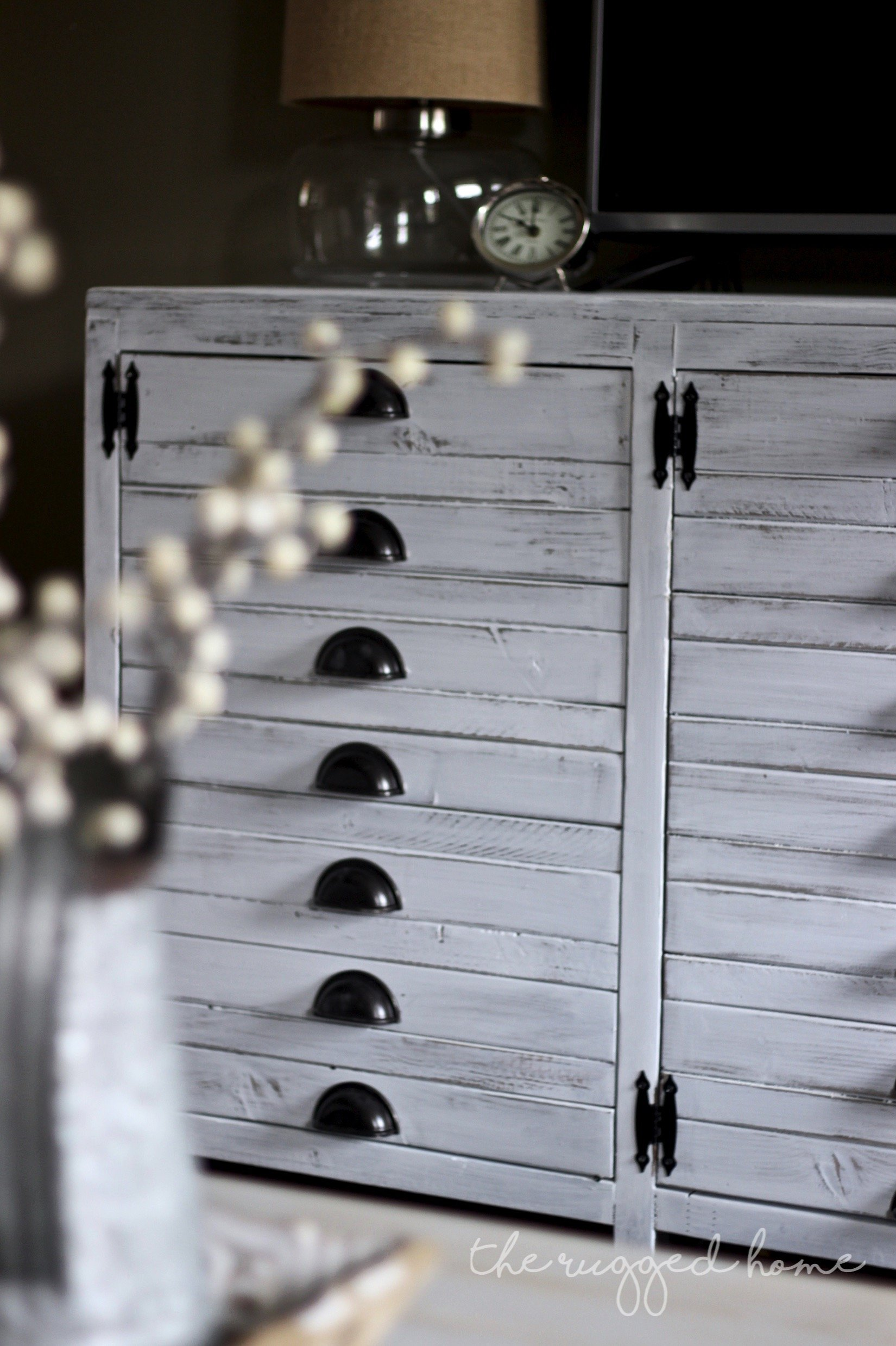 Printers Cabinet, DIY Printers Cabinet, Easy Tutorial, Ana White, Shanty2Chic, Rustic Furniture