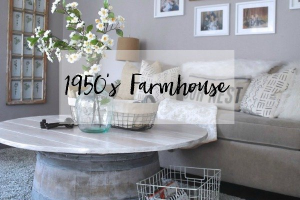 1950's Farmhouse Home Tour. Walk through our last home www.whitepicketfarmhouse.com