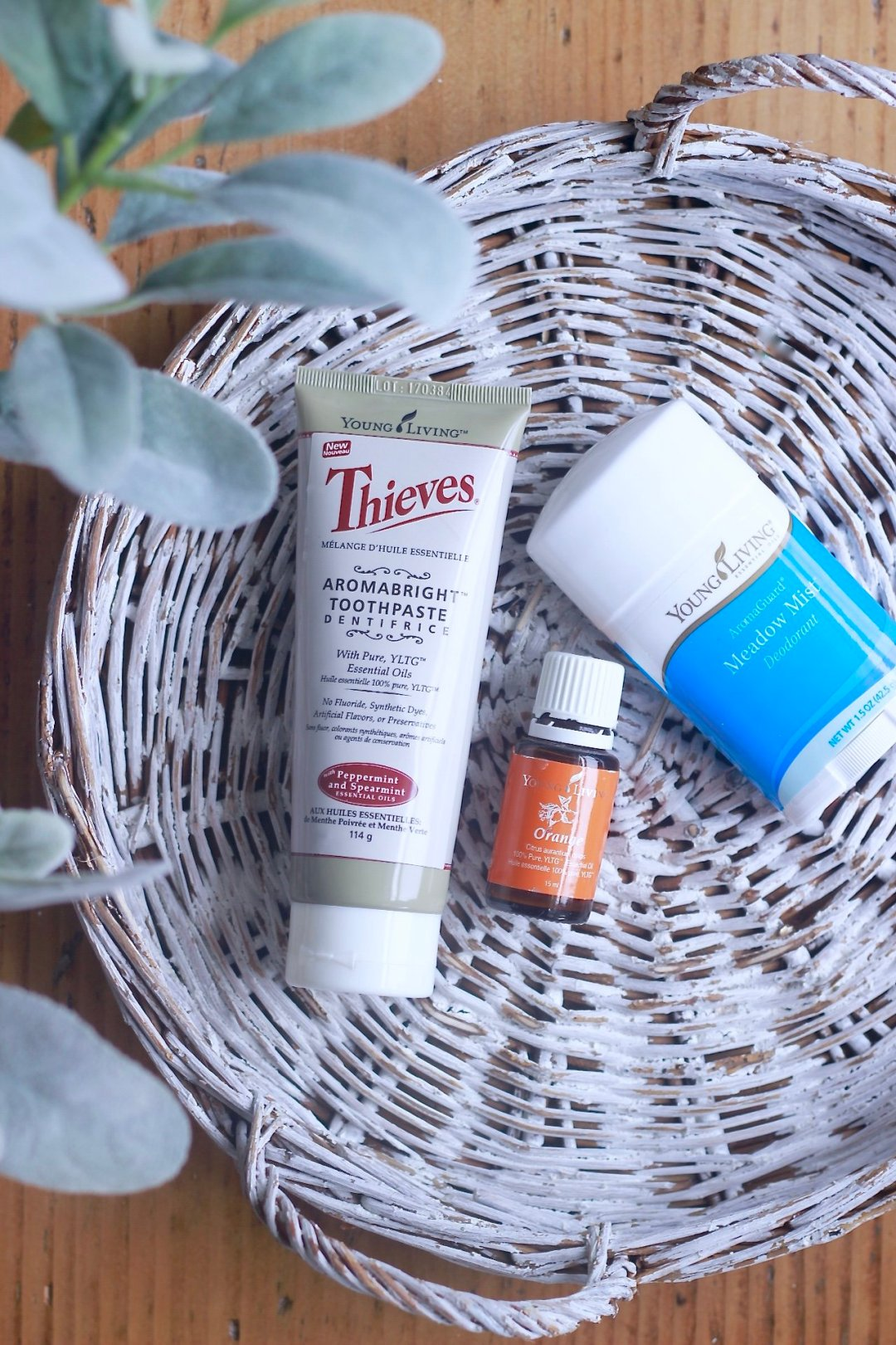 Living Life Less Toxic, Thieves Aromabright toothpaste, Orange Young Living Essential Oil