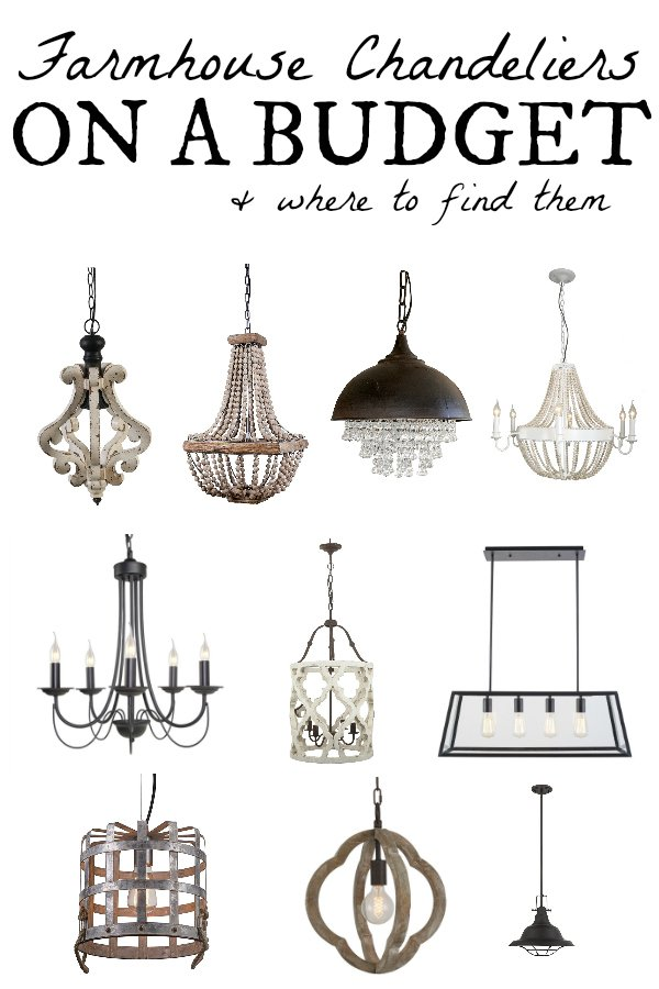 Farmhouse chandeliers on a budget white picket farmhouse farmhouse chandeliers on a budget where to buy them most are on sale and aloadofball Gallery