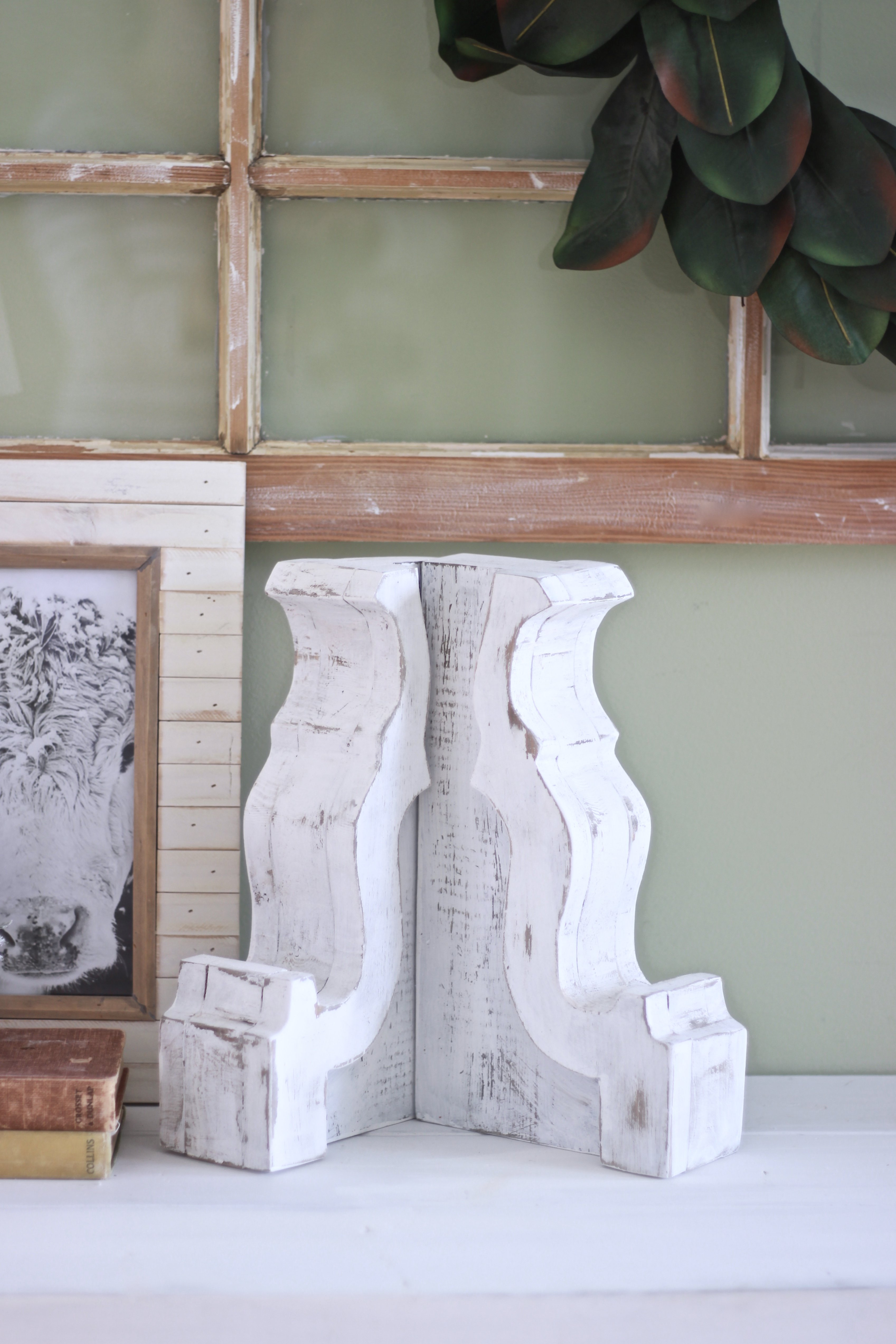 How To make DIY Corbels in a few hours. Save a ton of money and do it yourself. Stencils and Corbel Pattern Available to Print Off. Do it yourself Corbels, Antiqued Corbels, Corbel Styling, Farmhouse Corbels