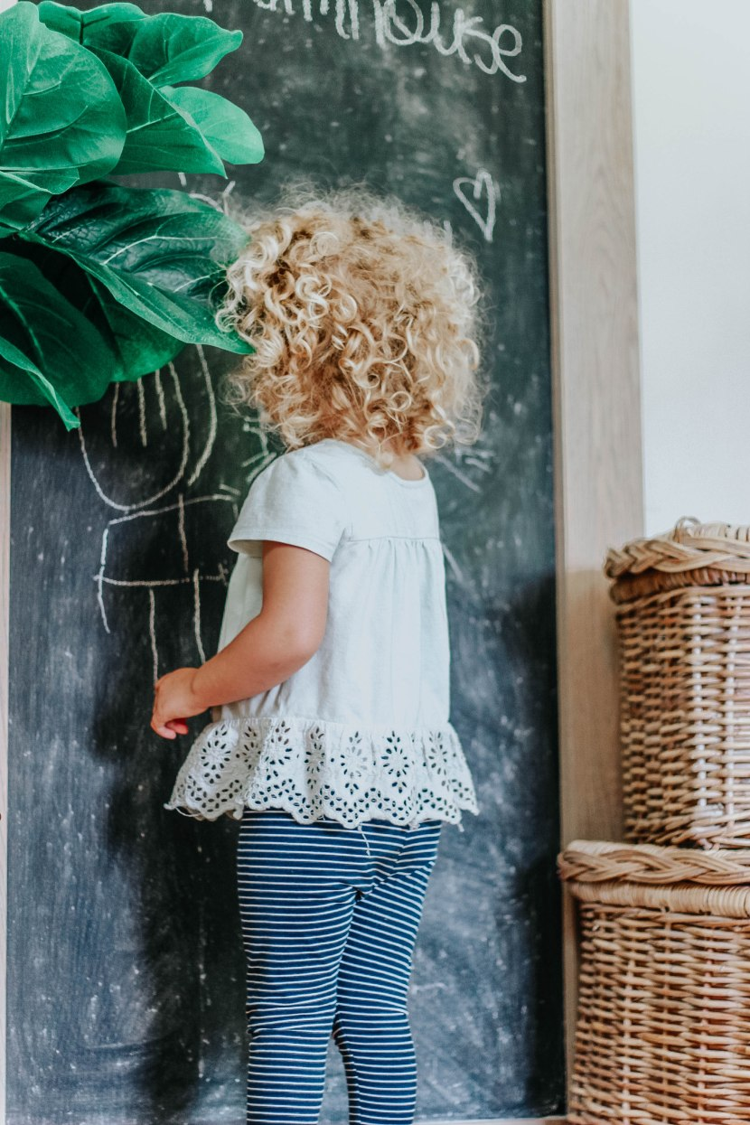 DIY Oversized ChalkBoard With Beauti-tone Paint Line. Super Easy Tutorial With Step By Step Instructions. #DIY #Chalkboard www.whitepicketfarmhouse.com