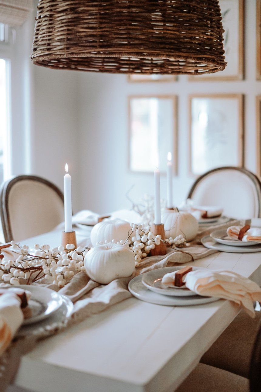 Entertaining At Thanksgiving. My minimal and cozy take on Thanksgiving and Fall Decor. Super Easy Colours and Textiles to Infuse into your space to make it more cozy.