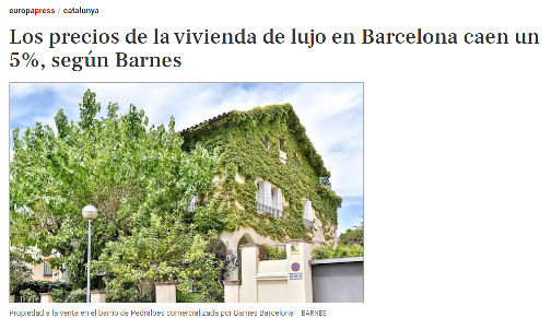 BARNES Barcelona en Europa Press