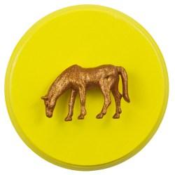 Orange Horse on Yellow (WhiteRosesArt.com)