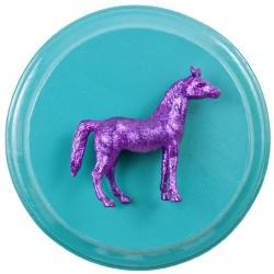 Purple Horse on Teal (WhiteRosesArt.com)