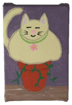Potted Cat I by Heather Miller | WhiteRosesArt.com