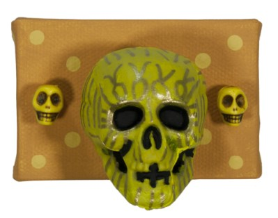 3 Little Skulls in Yellow