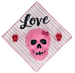 3 Little Skulls in Pink II by Heather Miller | WhiteRosesArt.com