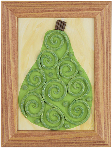 A Simple Pear II by Heather Miller | WhiteRosesArt.com