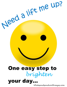 Smiley face. Need a lift me up? One easy step to brighten your day.