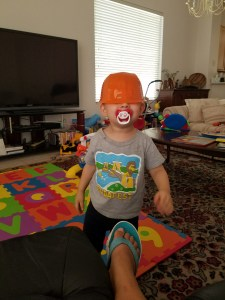 Toddler being silly. 10 Things that make me Happy.