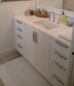 Bathroom Vanity White and Silver