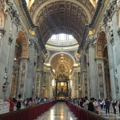 St. Peter's Basilica on the inside
