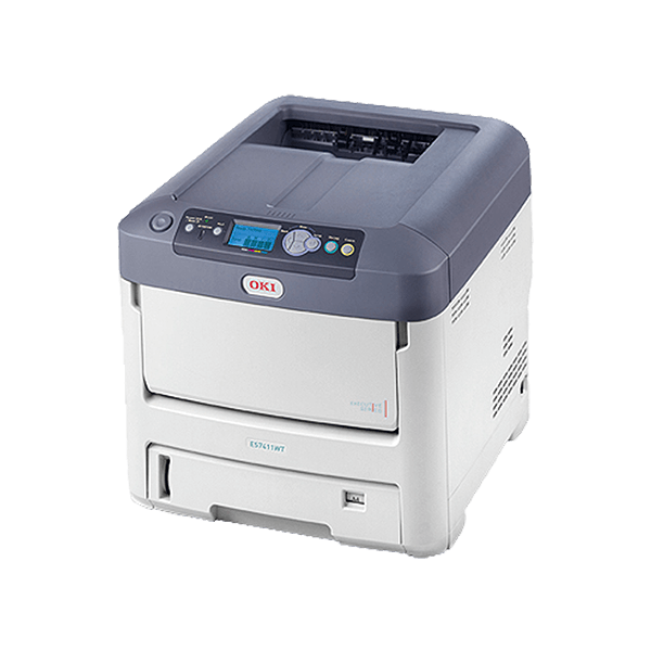 OKI White Toner Laser Printer the Pro7411WT - For FOREVER Digital Heat Transfer Papers