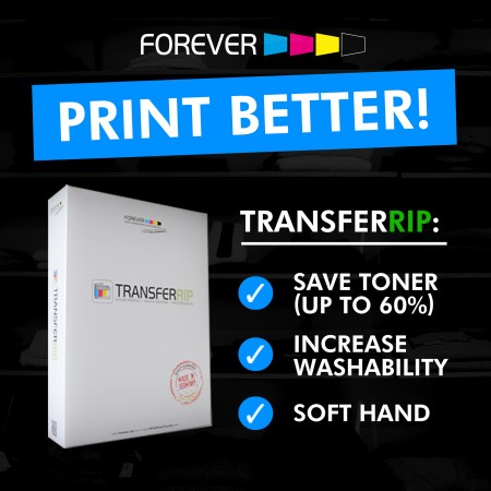 Print Better colours while saving toner with the TransferRIP software.
