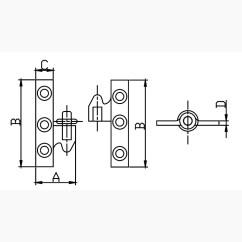 Brass Knuckles Diagram Baldor 3 Hp Motor Wiring Take Apart Knuckle Hinge White Water Marine Hardware Home Hinges