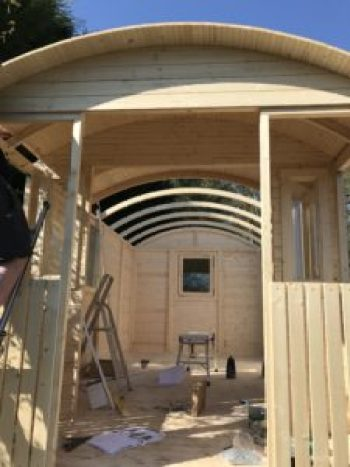 Shepherd Hut interior takes shape e1499968784240 225x300 - The Shepherds Hut - my very special place to blog