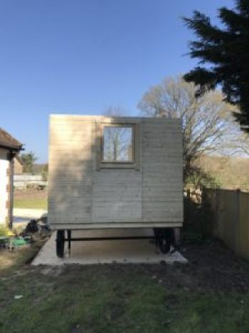 Shepherds Hut back view e1499968857382 225x300 - The Shepherds Hut - my very special place to blog