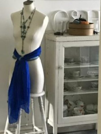 Doris in Blue jewellery and scarves 3 e1506530793567 225x300 - Family - A new and exciting addition