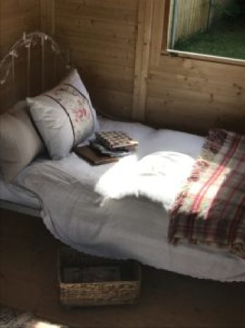 French iron bed dressed 1 e1504253810330 225x300 - The Shepherds Hut - decorating the inside of beautiful Belle