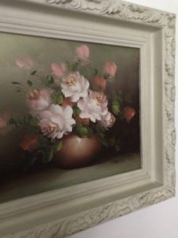 flower oil painting 1 e1511188989368 225x300 - Paintings - Vintage and Thrifty Styling for the Home