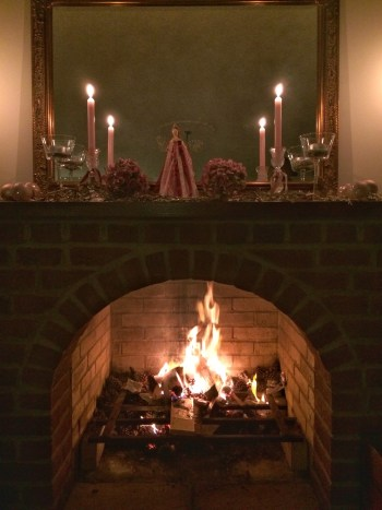 log fire at Christmas 225x300 - Faffing, the art of and another favourite pass-time in my world
