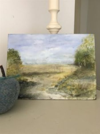 watercolour on board 1 e1511189426840 225x300 - Paintings - Vintage and Thrifty Styling for the Home