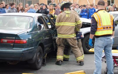WCS Senior Demonstrates Dangers of Distracted Driving