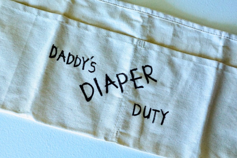 DIY Daddy's Diaper Duty Toolbox made for under $30! The perfect gift for a new father on Father's Day. | whitjxoxo.com