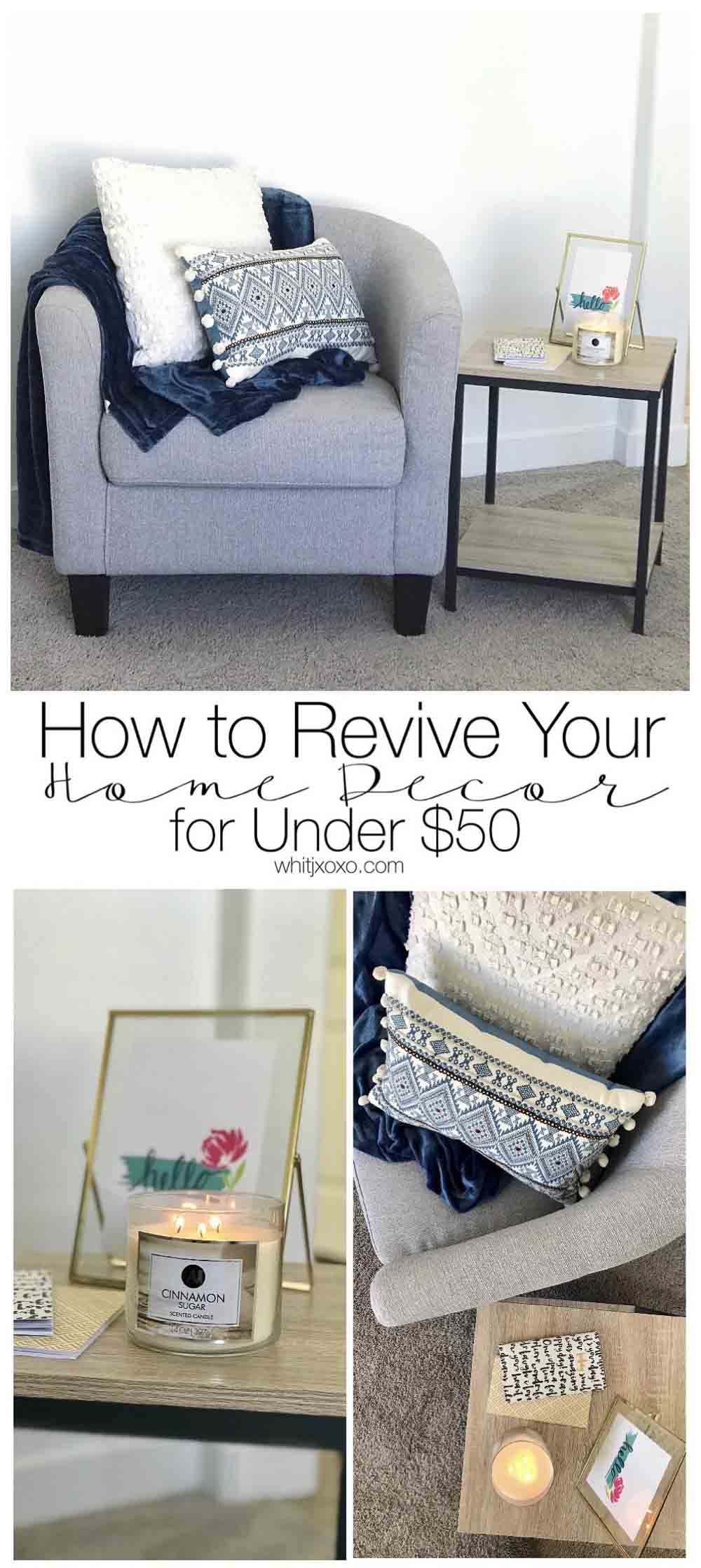 You absolutely can revive your home decor to make it more trendy without spending hundreds of dollars and I'm going to show you how!| www.whitjxoxo.com