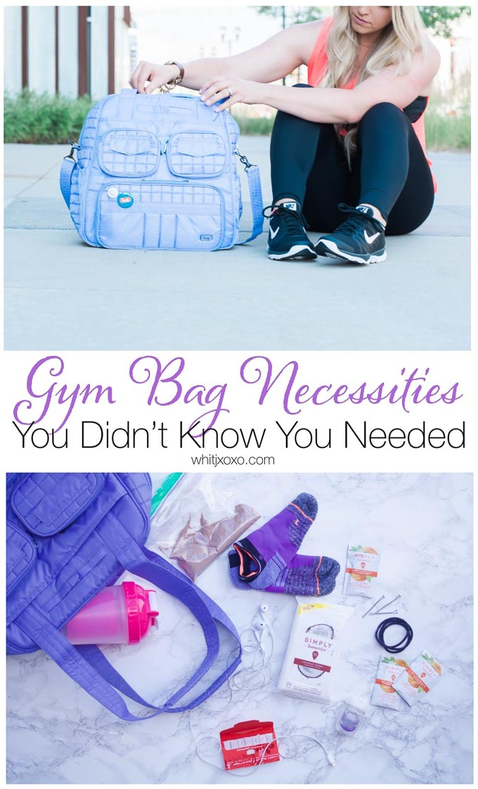 I always keep these 8 gym bag necessities nearby, they have saved me tons of headaches and uncomfortable situations while I am working out! | www.whitjxoxo.com