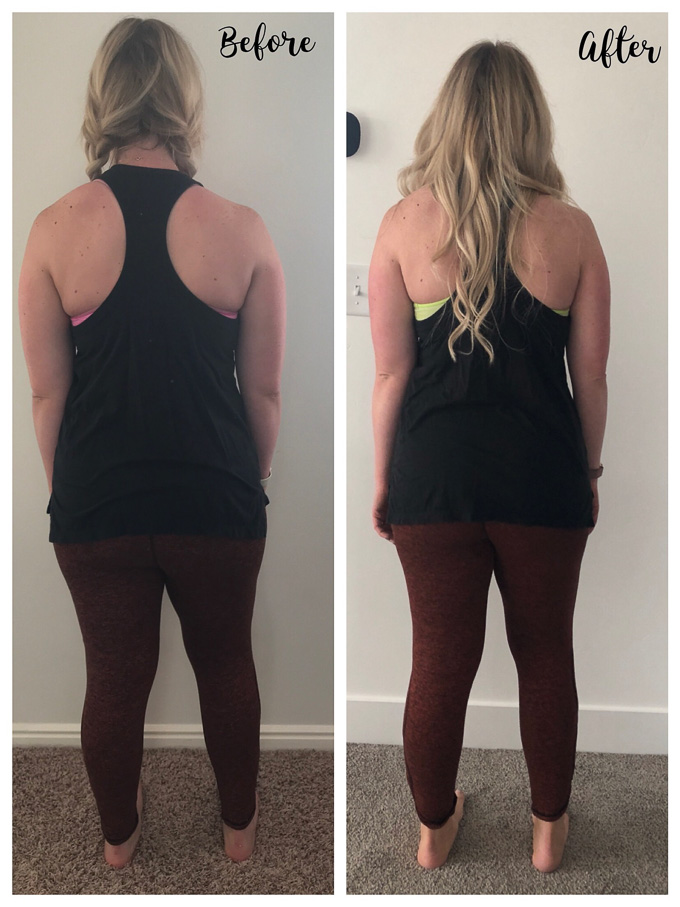 My before and after photos after three months on Medifast and my 3 biggest lessons that I have learned on my postpartum weight loss journey! | whitjxoxo.com