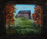 Painting of Beaychol barn titled
