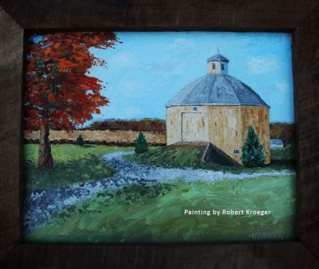 """Painting of Reiff barn titled """"Dodecagon"""""""