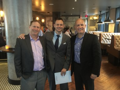 Phil and David, in Boston with Adam Crowson, CEO North America of GGI