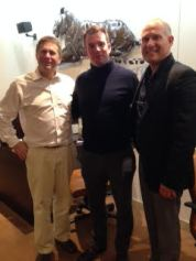 David Wolfskehl & Phil Whitman with Martin Bissett, noted author & speaker and Founder of The Upward Spiral Partnership